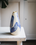 Keramická váza šedomodrá