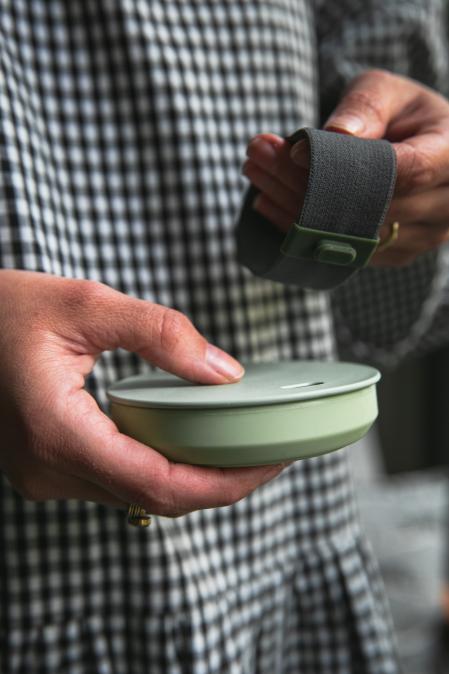 Hunu cestovní hrnek do kapsy světle zelený